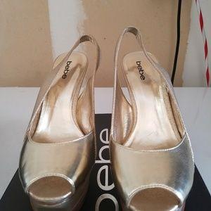 Ladies BeBe Gold  Shoes